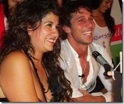 Carolina Soto y Paolo en conferencia de prensa.