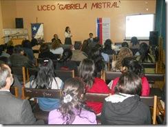 Seremi de Justicia capacita a estudiantes del Liceo Gabriela Mistral