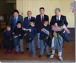 Frontel y Municipalidad de Ercilla entregaron mochilas a alumnos