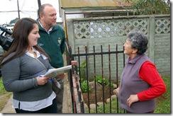 Con puerta a puerta, comenzó trabajo en terreno del nuevo Plan de Desarrollo Comunal para Temuco