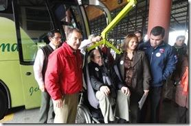 Tur Bus lanza en Temuco novedosa tecnología para facilitar el acceso de personas discapacitadas a sus buses