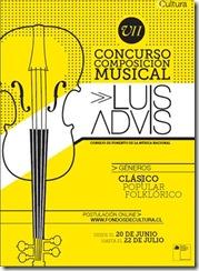 Consejo Nacional de la Cultura y las Artes invita a participar en VII Versión Premios de Composición Musical Luis Advis