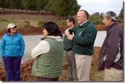 Alcalde Becker visitó tranques de agua construidos por el municipio en zona rural de Temuco