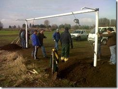 Instalan arcos de fútbol en parque estadio de Labranza