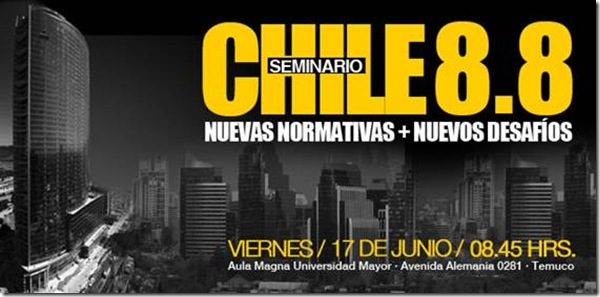 Chile 8.8: nuevas normativas y nuevos desafíos