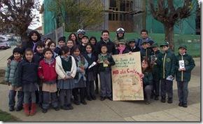 Alumnos de brigadas ambientalistas de Padre las Casas regalaron árboles y plantas
