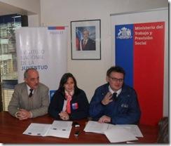 SEREMI del Trabajo en conjunto con directores de INJUV y IPS, lanzan nuevo Subsidio a la Cotización del Trabajador Joven