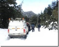 Más de cuarenta centímetros de nieve registran sectores rurales de Villarrica
