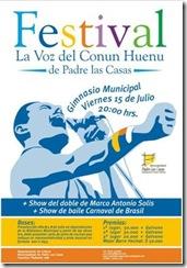 """1º Festival de la Voz Vecinal de Padre Las Casas: """"La voz del Conun Huenu"""""""