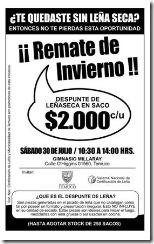"""Preparan gran """"remate de invierno"""" con despuntes de leña seca y certificada en Temuco"""