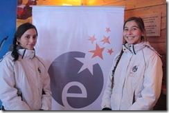 Geraldine Bauer y Fernanda Ruminot del team Enjoy Pucón.
