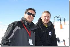 Cristian Muñoz y Heinz Madsen de Enjoy Pucón.