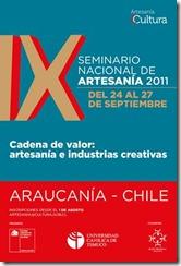 """Temuco será sede del IX seminario nacional de artesanía, """"Cadena de valor: artesanía e industria cultural"""""""
