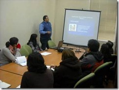 Programa Conace Previene dictó charla al personal del CFT Teodoro Wickel