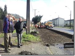 Comenzaron Obras de Pavimentación de Avenida Estación en Villarrica