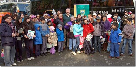 Niños y jóvenes viajaron al volcán Villarrica