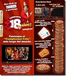 Telepizza celebra sus 18 años en Chile con los mismos precios de entonces