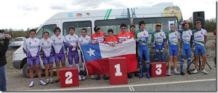 Chile se queda con los tres primeros lugares del podio en la Primera Jornada del Ciclismo en los Juegos Binacionales
