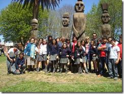 Estudiantes de Escuela Armando Dufey se acercaron a la cultura mapuche en Museo de Cañete