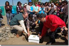 Municipio de Temuco puso la primera piedra de Parque Costanera del Cautín en sector San Antonio