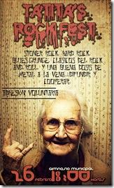 afiche evento rock