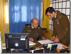 Comisario de Carabineros de Pucón visita unidad de Curarrehue