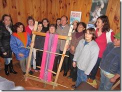 taller de telar mapuche en Cónquil