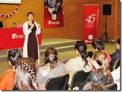 05 - 09 - 2012 - Alumnos de INACAP Temuco participan de charla de apresto laboral impartida por Laborum