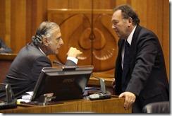 senadores García y Tuma