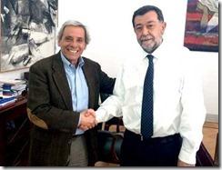 Leopoldo Rosales y Mahmud Aleuy