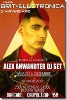 Afiche Alex Anwandter Temuco