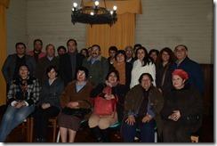 Director de Cultura junto a comunidad Collipulli
