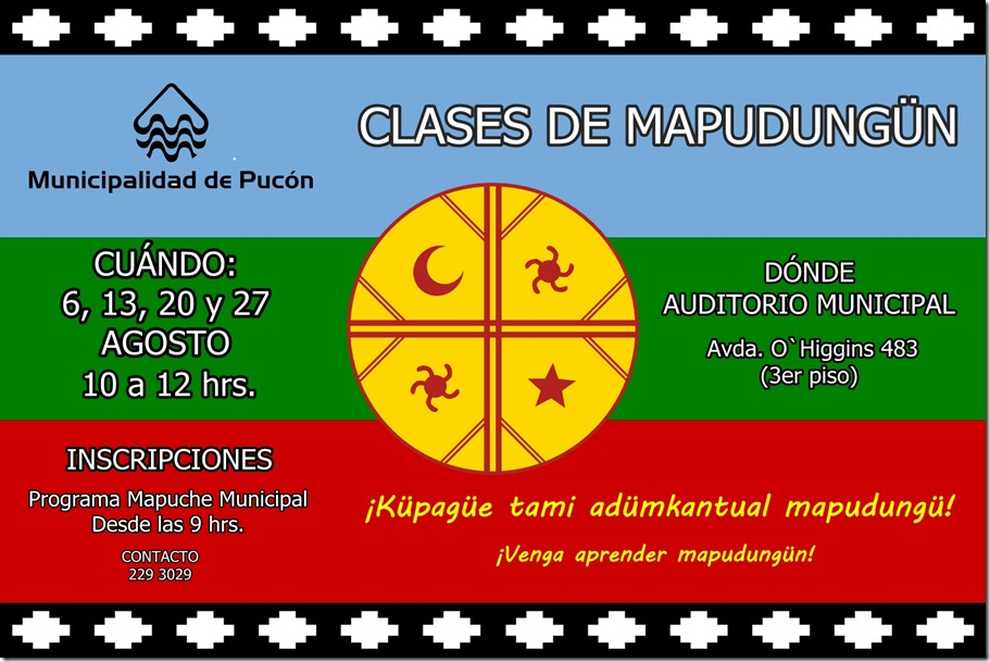 AFICHE clases mapudungun