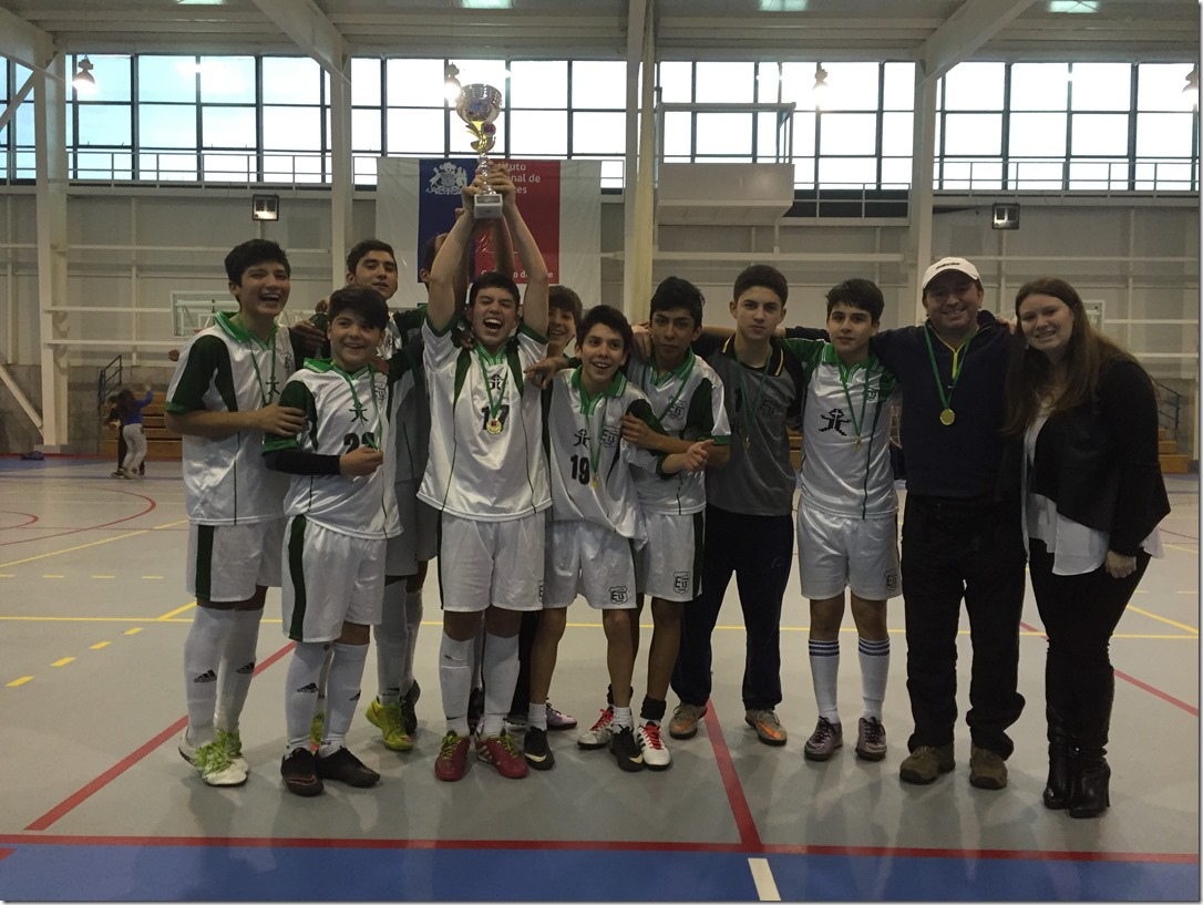 Escuela Nuestra Sra de Fátima Campeón Regional Futsal 2016 Juegos Dep. Escolares
