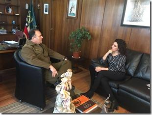 Gobernadora (s) visita al General Franzani