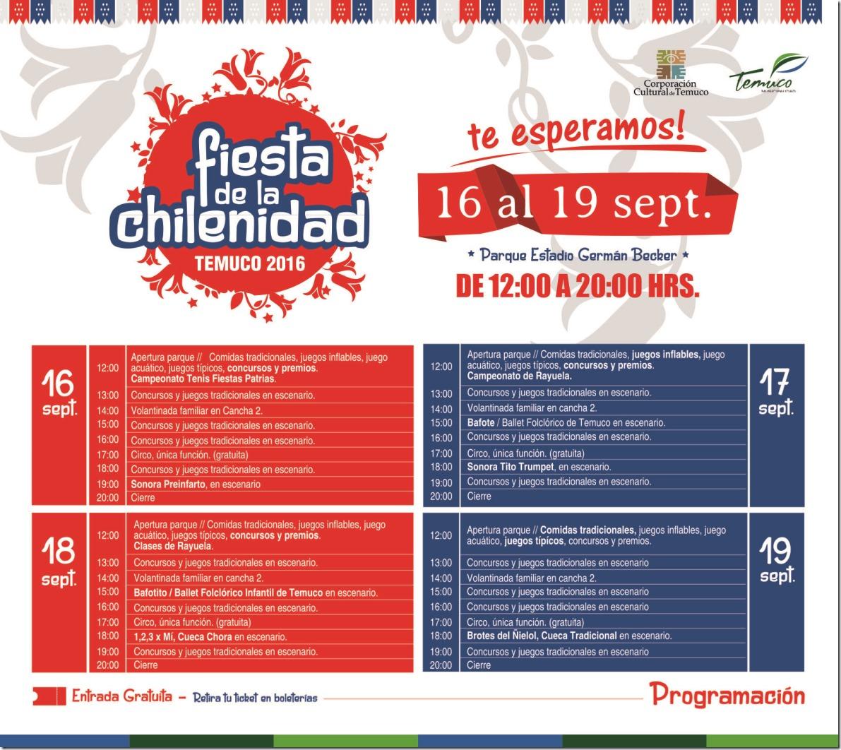 Programación Fiesta de la Chilenidad Parque Estadio Germán Becker (1)