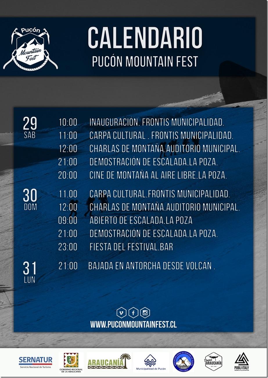 AFICHE pucón mountain fest calendario