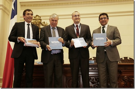 Aarón Cavieres, Carlos Furche, Gastón Blanco y Pablo Badenier