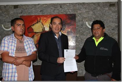 Juan Pablo Jaramillo, Pedro Mariman,Carlos Painevilu