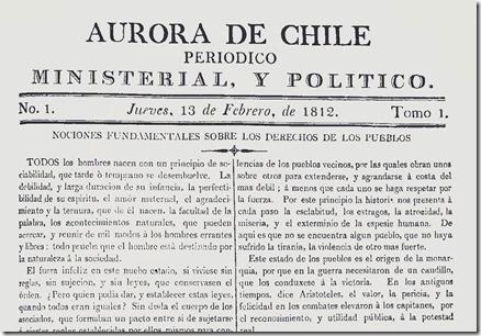 1812-primer-número-de-la-Aurora-de-Chile