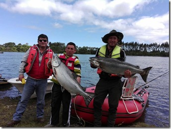 Primeros salmones campeonato Chinook