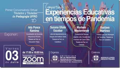 Conversatorio Virtual Titulados Pedagogía