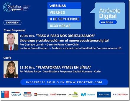INVITACIÓN - 5° WEBINAR ATRÉVETE DIGITAL 2020