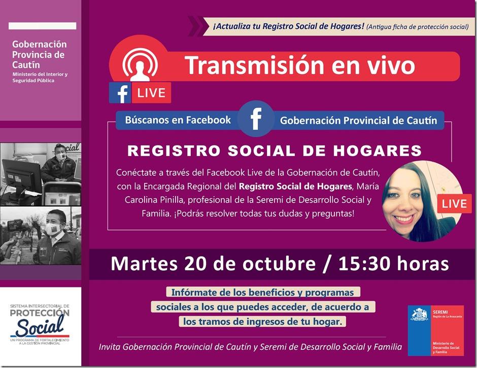 Afiche Registro Social de Hogares