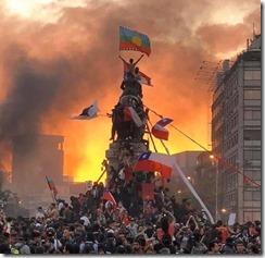 fotografía icono revuelta social chile