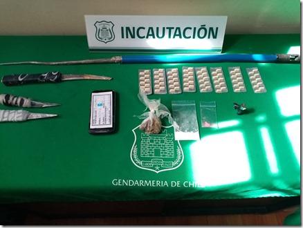 Incautación de droga CCP Temuco