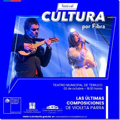 Cultura por Fibra. Afiche RRSS Esrtreno 2